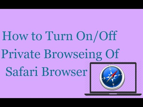 How to Turn On/Off Private Browsing Of Safari Browser | Safe/Private Browsing
