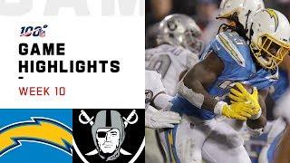Chargers vs. Raiders Week 10 Highlights   NFL 2019