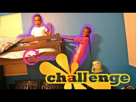 24 HOURS IN MY LITTLE BROTHER'S ROOM CHALLENGE!