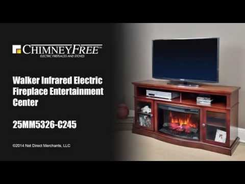Walker Infrared Electric Fireplace Entertainment Center