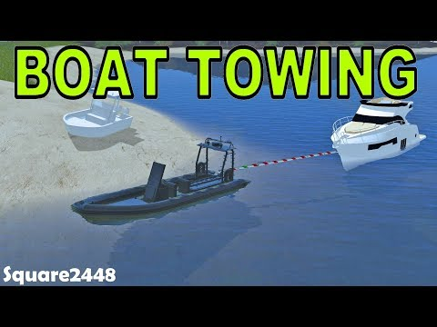Farming Simulator 17 | Boat Towing | Rescue Boat | Beached Boat | Sinking Boat | Chevy 3500HD
