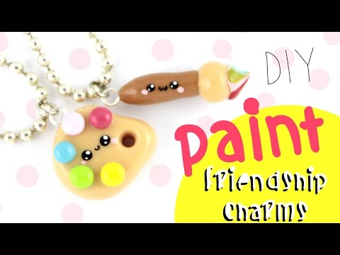 ♡ DIY Paint Friendship Charms!! ♡  | Kawaii Friday
