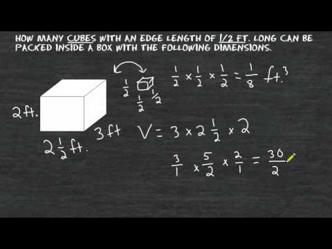Volume - Cubes With Fractional Edge Lengths