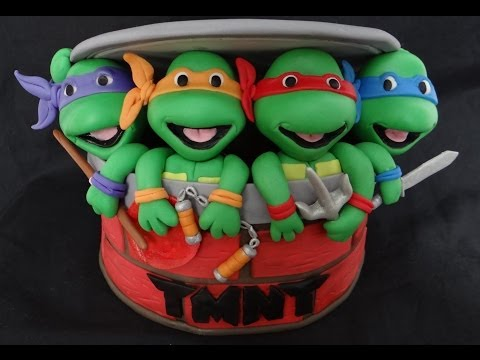 How To Make Fondant Ninja Turtles