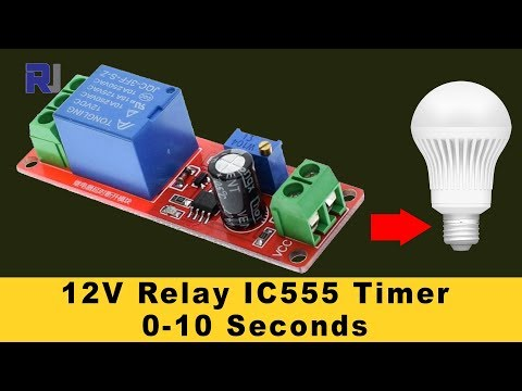 555 Timer Switch 12V Relay with Adjustable time Test review