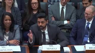 Hasan Minhaj's testimony before Congress on the student loan crisis