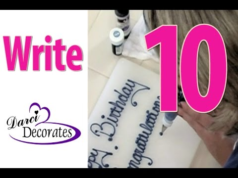 Coloring Frosting - Writing on Cake - Vid 10 of Darci Decorates How-To Cake Decorate DVD
