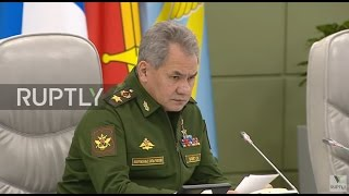 Russia: US-led coalition made Syria situation worse - Shoigu