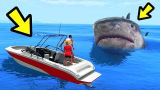 GTA 5 - Playing as The MEGALODON Shark!!