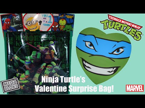 Ninja Turtles Valentines Day Surprise Bag with Marvel and Minions