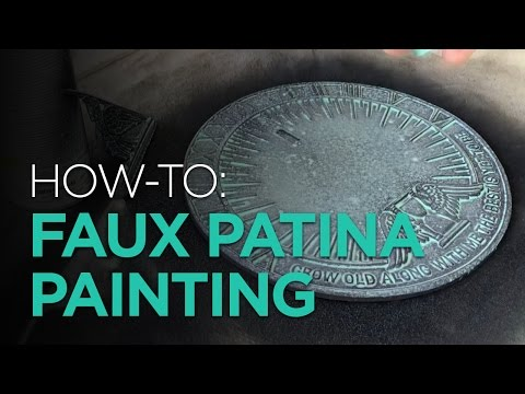 HOW-TO: Faux Patina Painting With Spraypaint and Acrylic