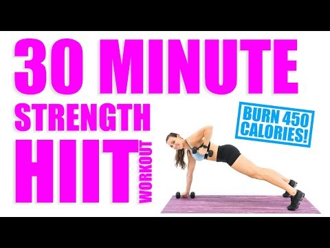 30 Minute HIIT Strength Workout 🔥Burn 450 Calories! 🔥
