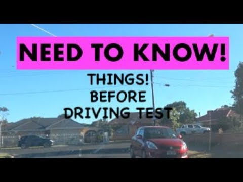 THINGS Before Driving Test You SHould Know, Australia