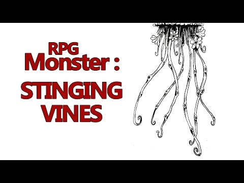 RPG Monster: The Stinging Vine. Plant monster for roleplaying games