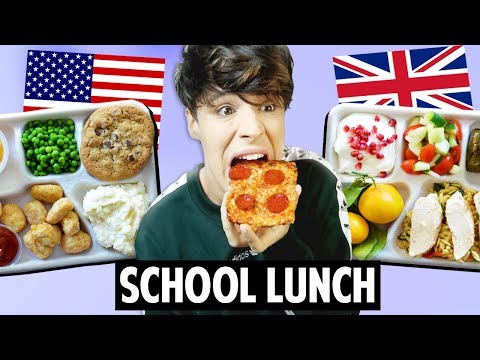 AMERICAN vs. BRITISH School Lunch Food 2