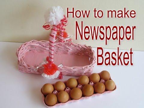 How to make Newspaper Egg Basket/DIY