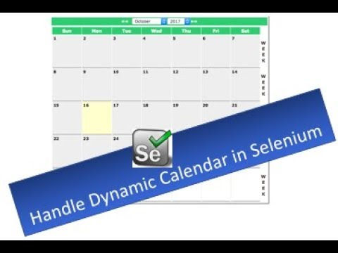 Handle Calendar in Selenium WebDriver - Session - 16