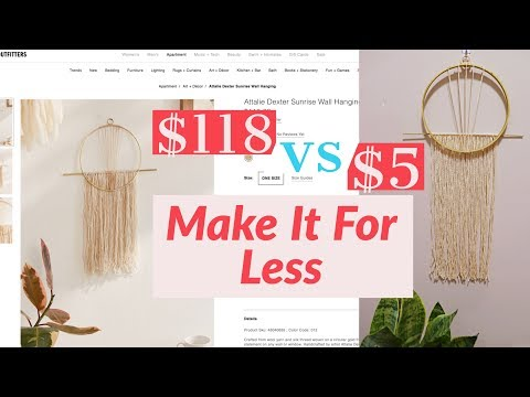 Make It For Less | DIY Urban Outfitters Wall Decor For Less | Decorating On A Budget