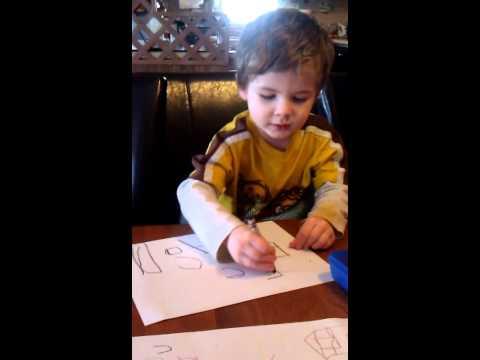 Autistic Child Writing the Alphabet (Take II)