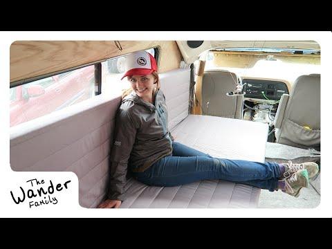 VAN LIFE: WE HAVE TO SLEEP WHERE?! | Building Van Furniture