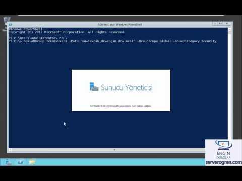 Server 2012 #0020 - PowerShell ile grup oluşturma ve üye ekleme - Engin OĞUZLAR