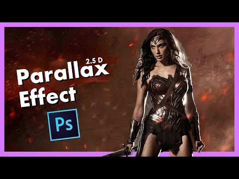 How to Add 3D Movement to Your Photo 2.5D Parallax Effect Photoshop CC Tutorial