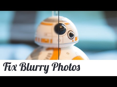 How to fix blurry photos