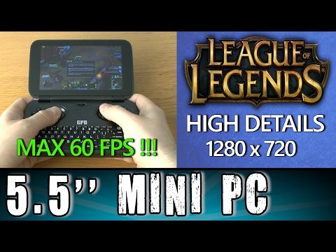 1# GPD Win League of Legends (PC) MAX 60FPS !!! Portable Handheld Gaming Mini PC Intel X7 Z8700