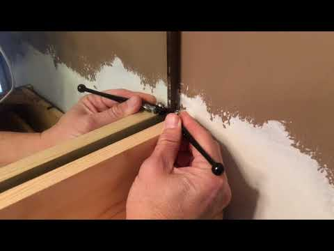 Cutting a large mirror in place. How not to do it.