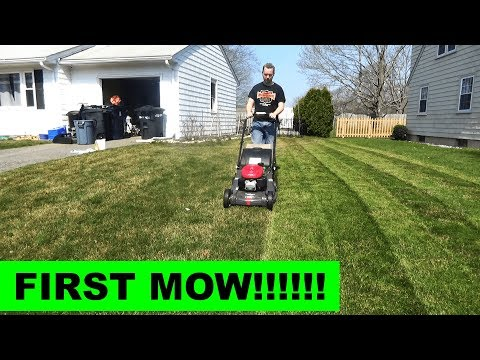 First mow - instant greenup with the Honda HRX217