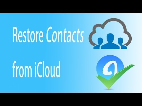 How to restore CONTACTS from iCloud - AnyTrans
