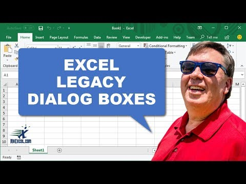 Excel In Depth 5 - Legacy Dialog Boxes