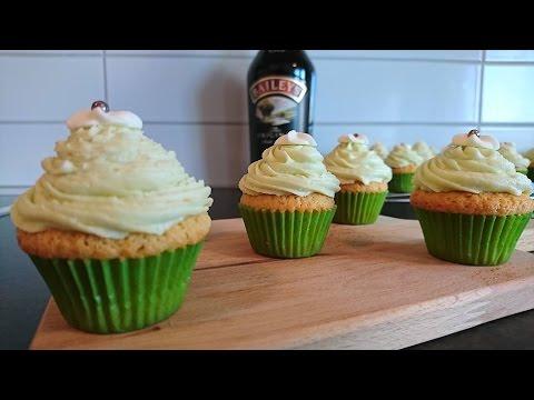 Baileys Irish Cream Cupcakes - St Patrick's Day Cupcakes