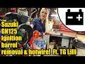 Motorcycle ignition barrel removal Ft.Tool Girl Lilli #1459