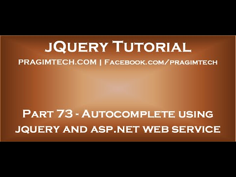 Autocomplete textbox using jquery and asp net web service