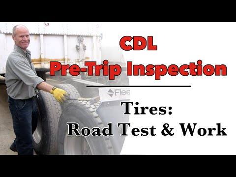 How to Inspect Tires to Pass Your CDL Pre-trip Inspection TEST