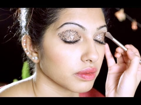 How To Do Leopard Eyeshadow Makeup in Hindi