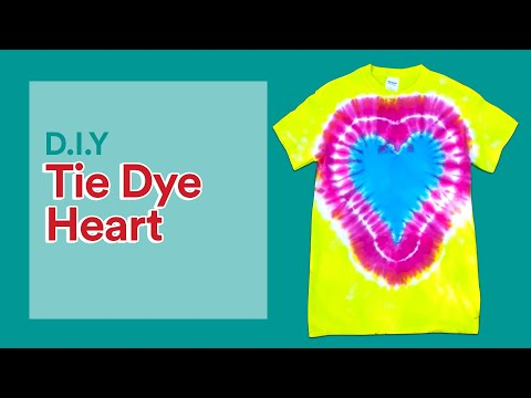 How to: Make a Heart on a Tie-Dye Shirt | Michaels