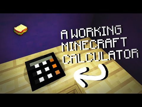 Minecraft | How to make a Working Calculator