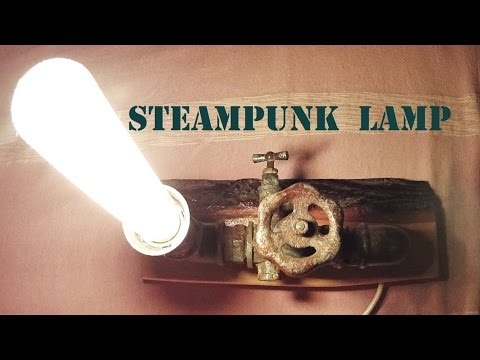 Steampunk unique DIY lamp