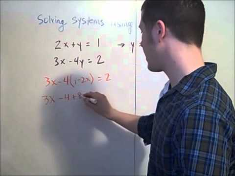 Solving systems using substitution
