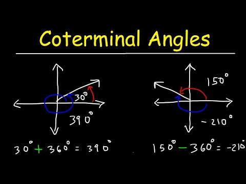 Coterminal Angles In Radians & Degrees - Basic Introduction, Trigonometry