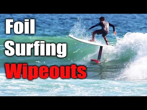 Foil Surfing First Time, Awesome Wipeouts