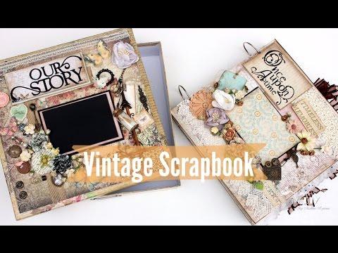 Vintage Scrapbook 12x12  with Box