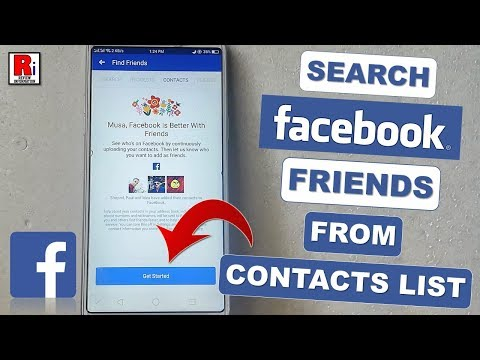 SEARCH FACEBOOK FRIENDS FROM YOUR MOBILE CONTACTS