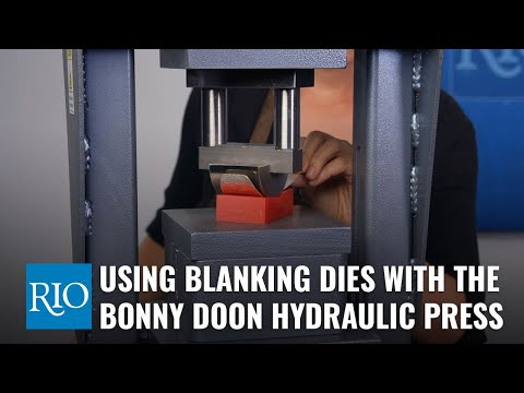 Using Blanking Dies with the Bonny Doon Hydraulic Press