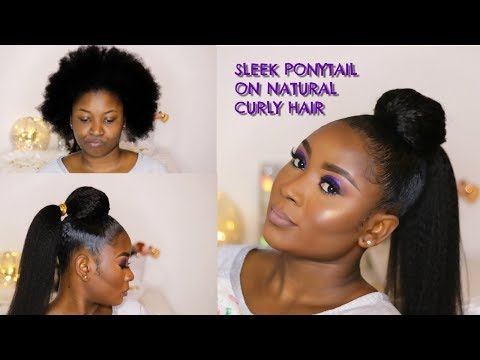 HOW TO: SLEEK HIGH PONYTAIL WITH WEAVE AND GOLD STRING | FT- MIFLOR ESTHETIQUE HAIR