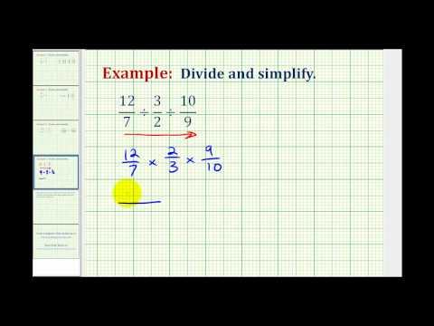 Ex: Division Involving Three Fractions