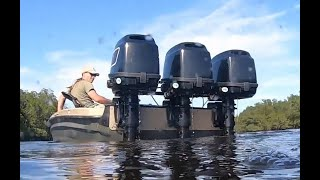 Poor Man's Triple Motor 12 Foot Center Console Bass Boat
