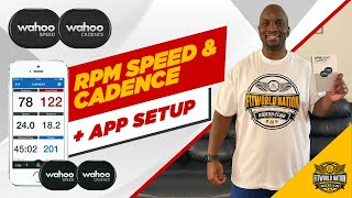 Wahoo RPM Speed and Cadence Sensor / with App Setup